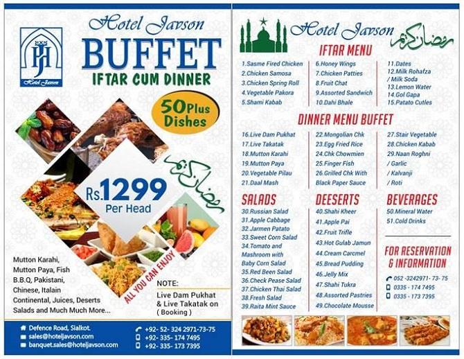 Ramadan Iftar Sehri Buffet Deals Lookup Pk